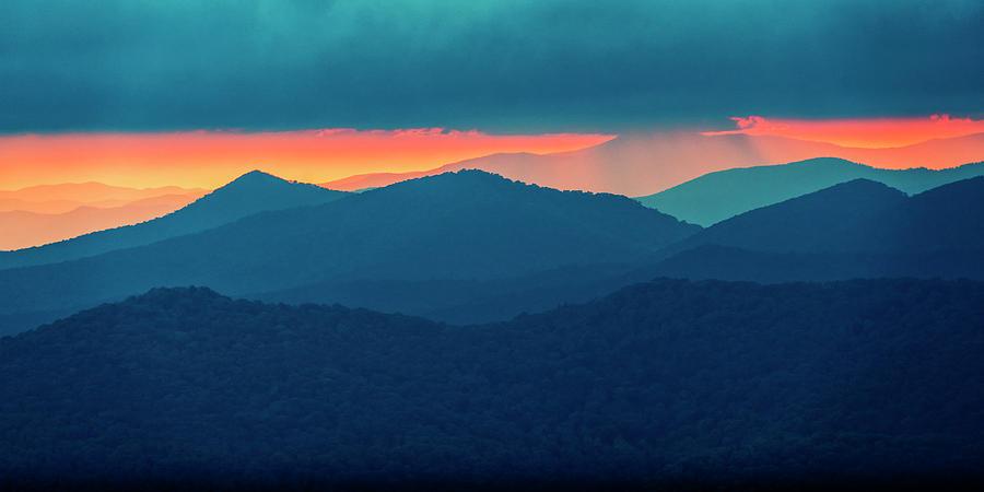 Sunset Blue Ridge Mtns NC_GRK4566_06162019 by Greg Kluempers