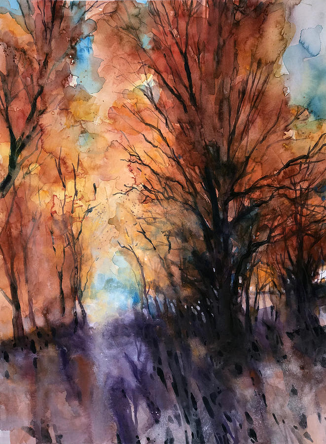 Woods Painting - Sunset Boulevard by Alessandro Andreuccetti