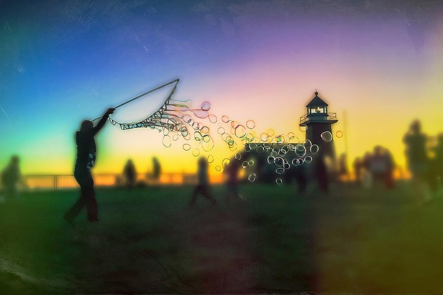 Sunset Bubble-mania Photograph