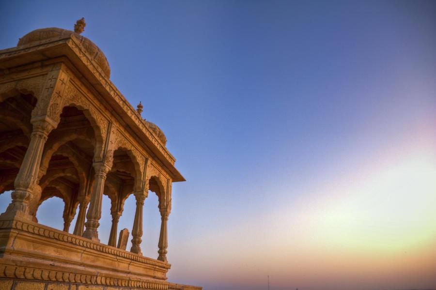 Sunset By The Cenotaph, Jaisalmer Photograph by Palashmitter