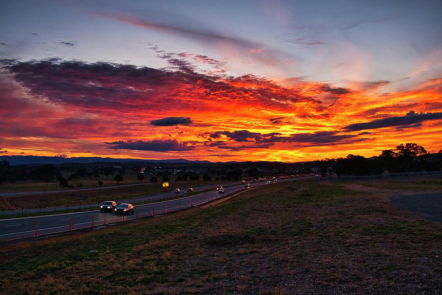 Sunset - Canberra - Australia by Steven Ralser