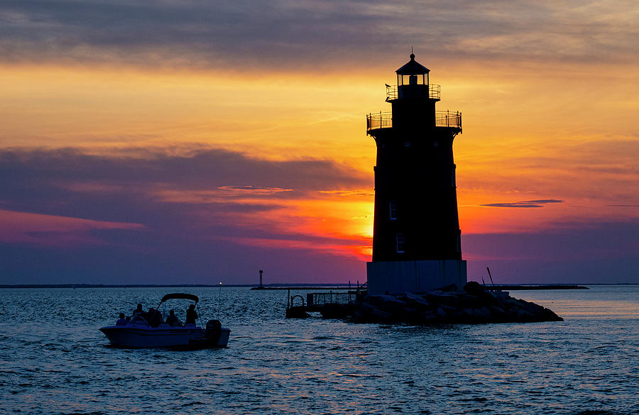 Sunset East End Lighthouse by David Kay