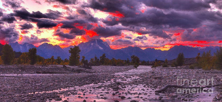Sunset Fire Over Spread Creek by Adam Jewell