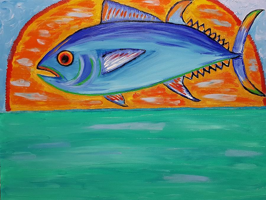 Sunset Fishing Painting