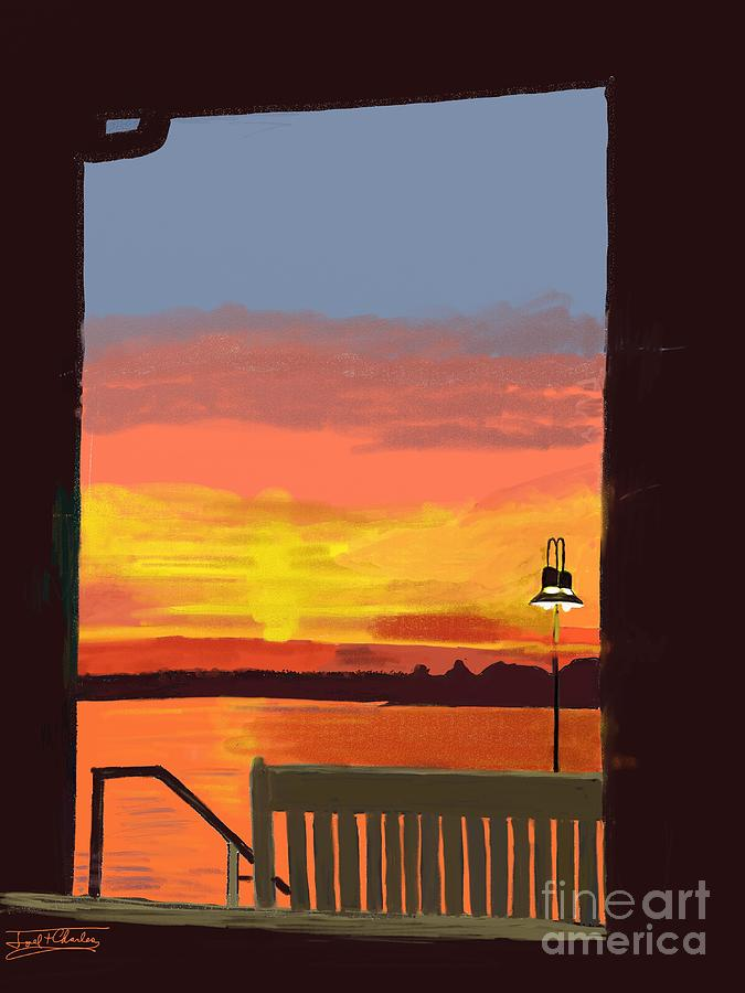 Sunset Digital Art - Sunset Framed by Joel Charles
