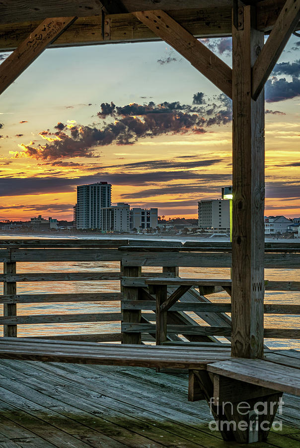 Sunset from Cherry Grove Pier by David Smith