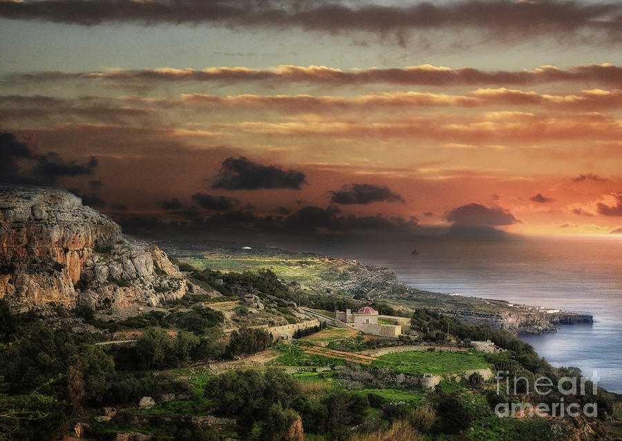 Sunset from the limits of Dingli by Stephan Grixti