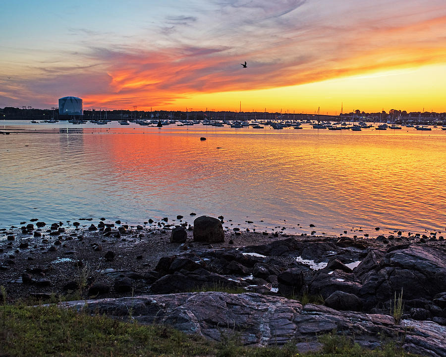 Sunset from the Salem Willows Salem MA by Toby McGuire