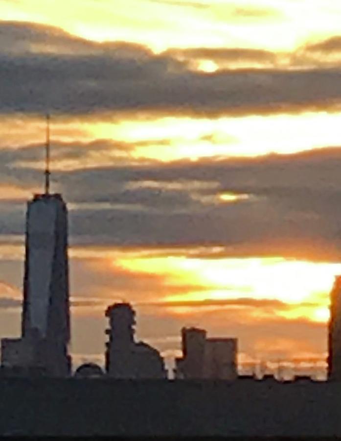 Sunset from the subway platform by Liza Beckerman