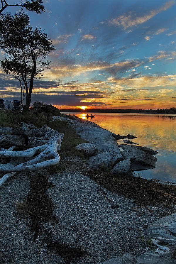 Sunset from Waters Edge by MIKE MCQUADE