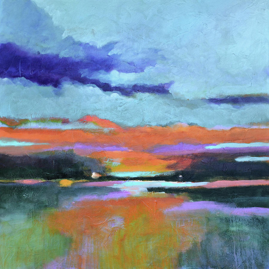Sunset Painting - Sunset Glow by Filomena Booth