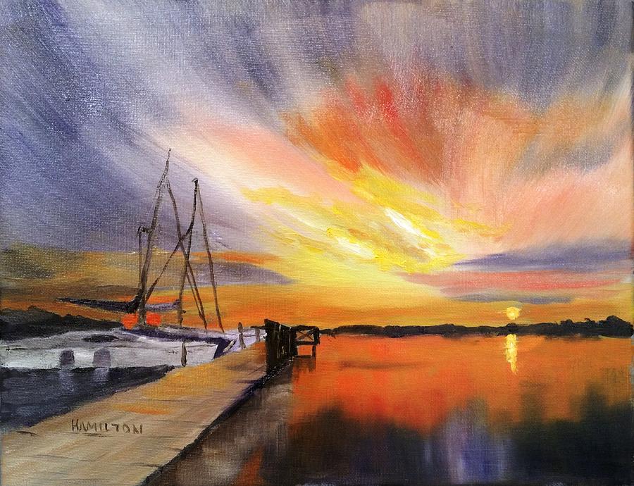 Sunset Harbor by Larry Hamilton