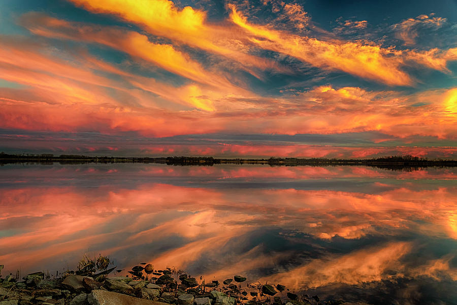 Sunset Horseshoe Lake IL-DSC2660-01062019 by Greg Kluempers