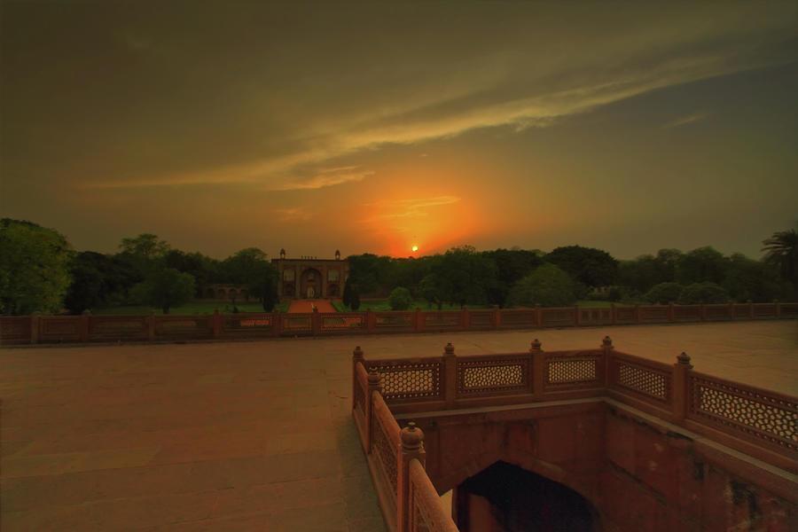 Sunset Humayun Tomb Photograph by Tarun Chopra