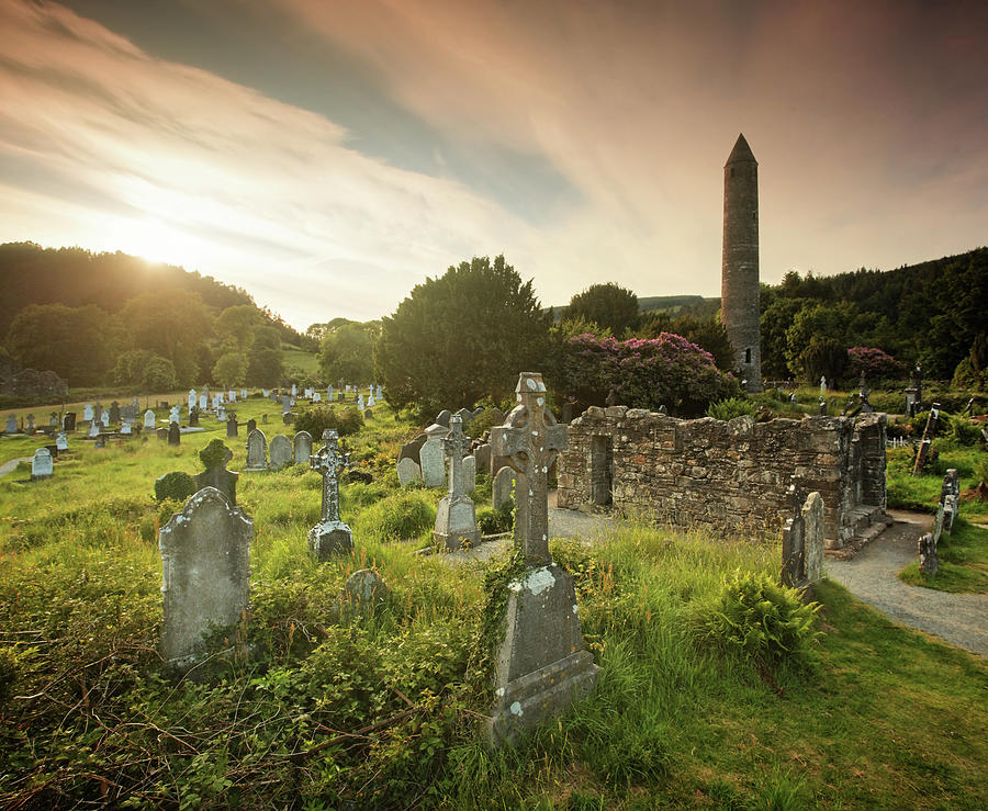 Sunset In Glendalough Photograph by Mammuth