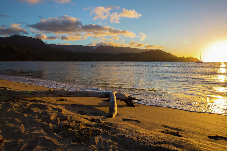 Sunset in Hanalei Bay 2 by John and Nicolle Hearne