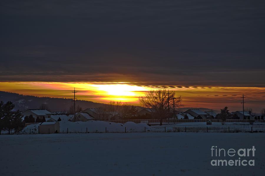 Idaho Photograph - Sunset In Hayden by Matthew Nelson