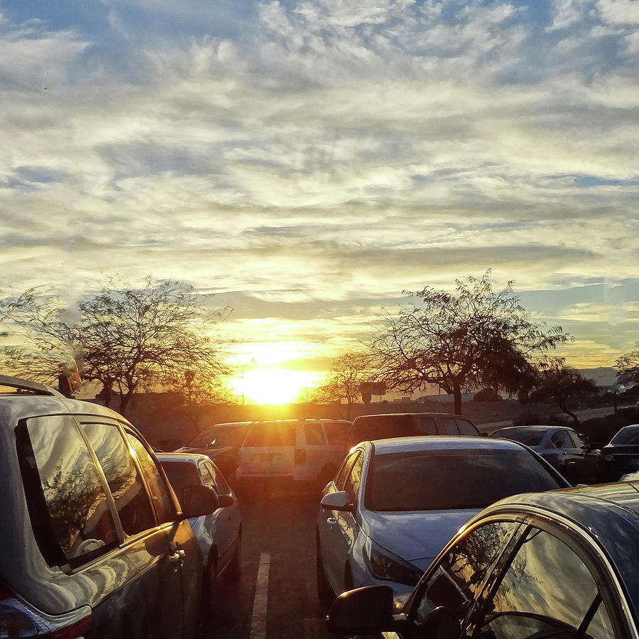 Sunsets Photograph - Sunset In Parking Lot 2 by Bruce Iorio