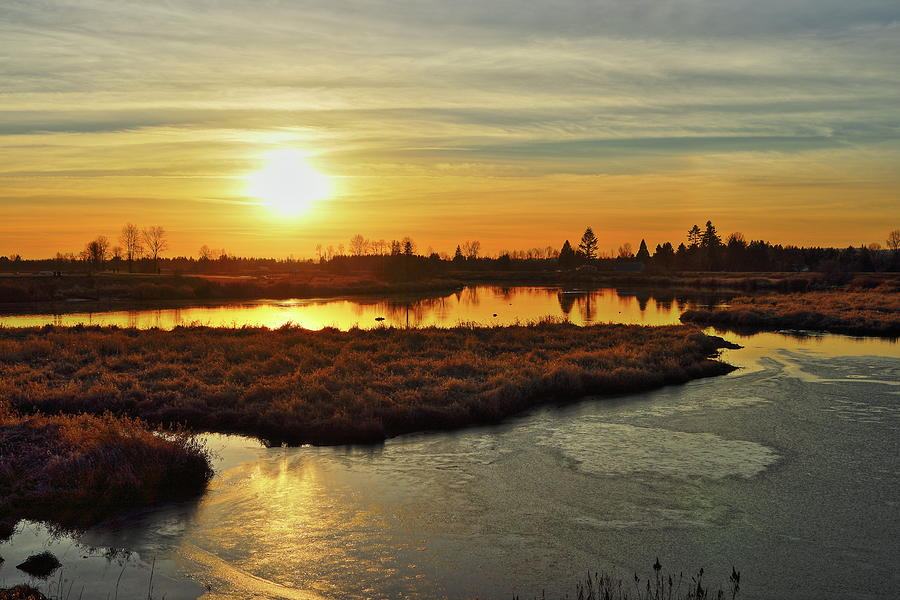 Sunset in Pitt Meadows by Hagen Pflueger