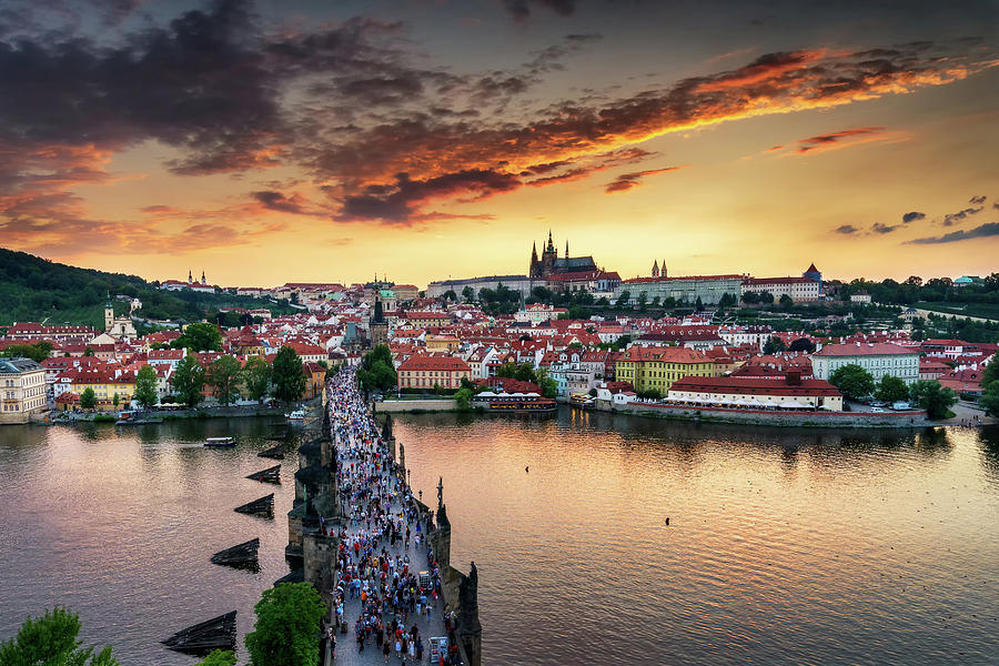 Europe Photograph - Sunset in Prague by Andrei Dima