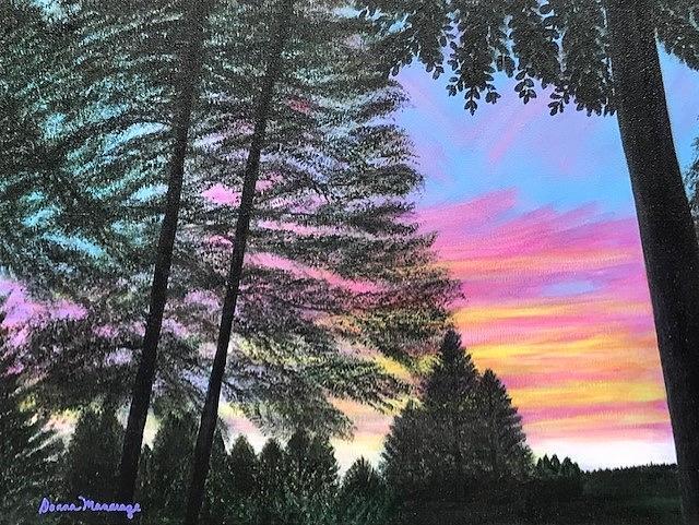 Sunset in Strawberry by Donna Manaraze