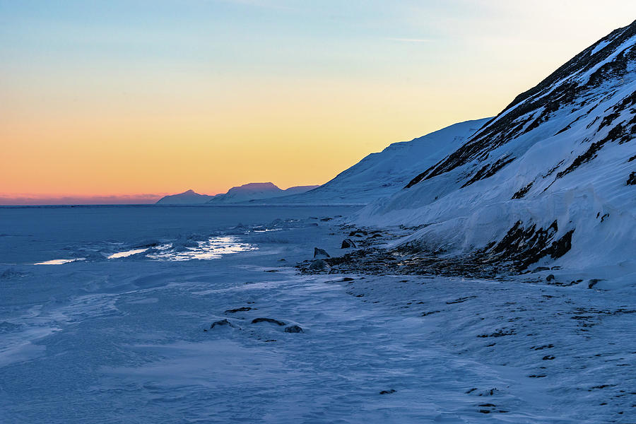 Arctic Photograph - Sunset In The Arctic by Kai Mueller
