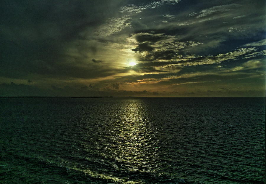 sunset in the caribbean by Shlomo Zangilevitch