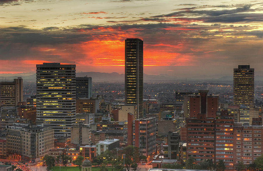 Colombian Culture Photograph - Sunset In The City, Hdr by Tobntno