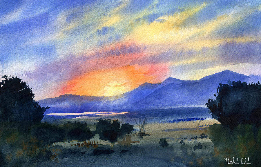 Sunset In The Spanish Mountains by Dora Hathazi Mendes