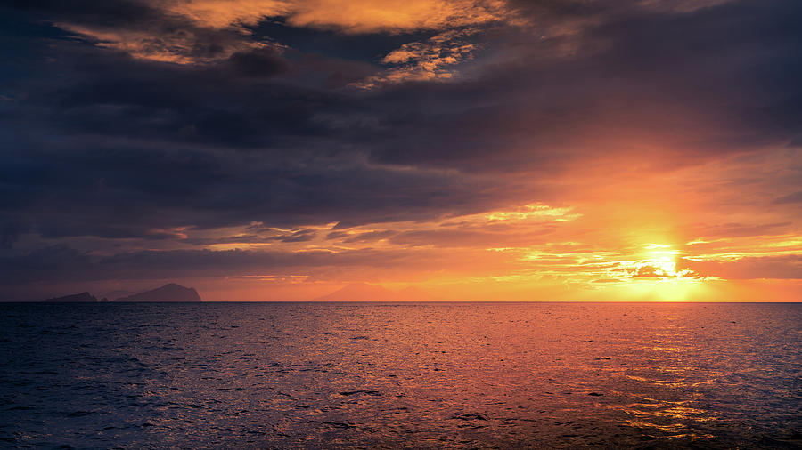 Sunset In The Mediterranean Photograph