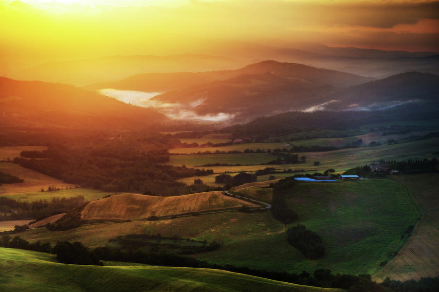 Italy Photograph - Sunset in Tuscany by Andrei Dima