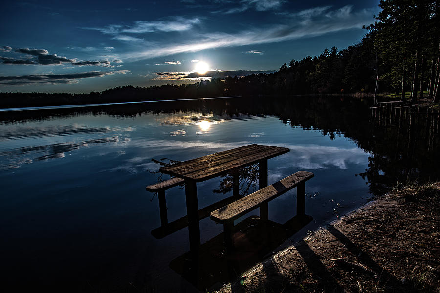 Sunset Lake by Neal Nealis