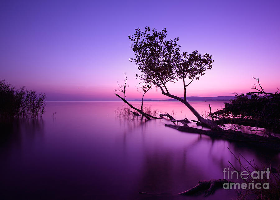 Sunrise Photograph - Sunset Lake. This Photo Make In by Hofhauser