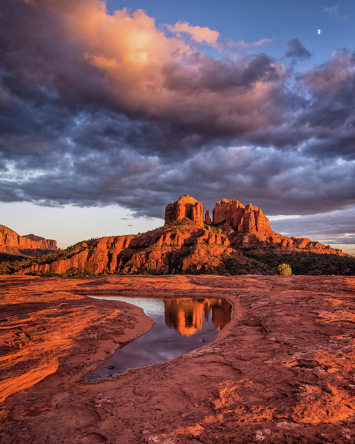 Sunset Light on Cathedral Rock by William Christiansen