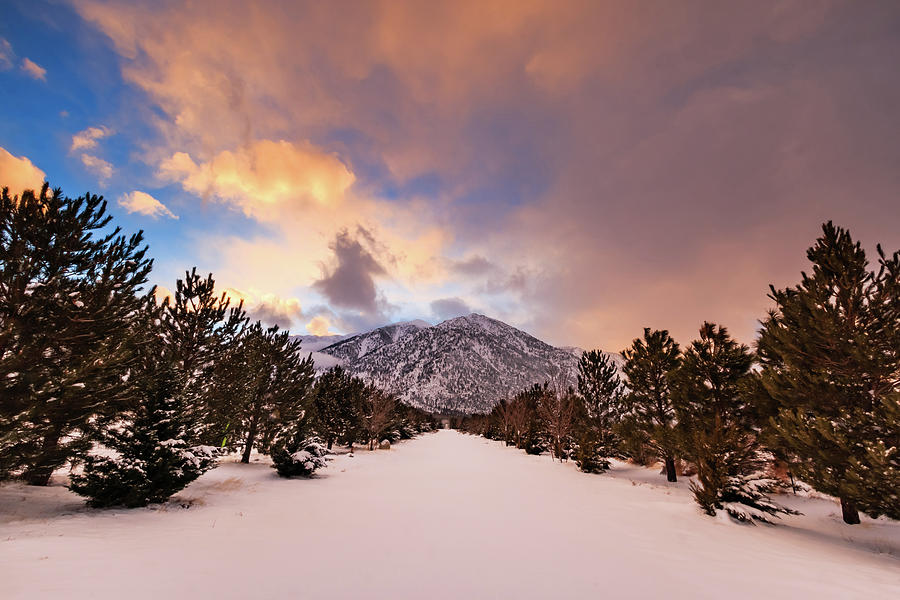 Sunset Photograph - Sunset Lines Up To Jobs Peak by Mike Herron