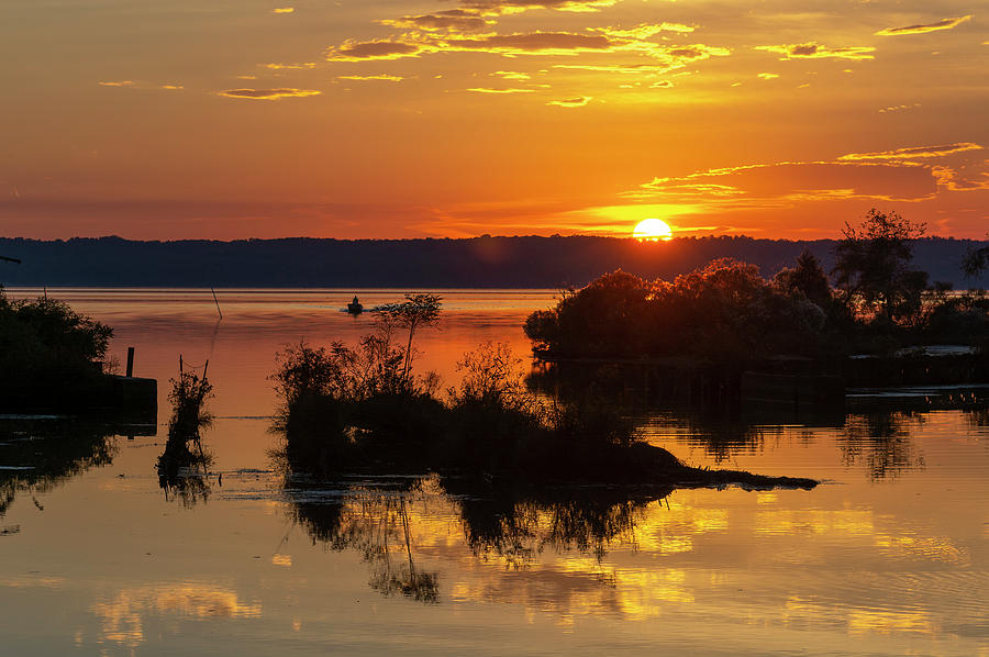 Sunset, Mallows Bay by Cindy Lark Hartman