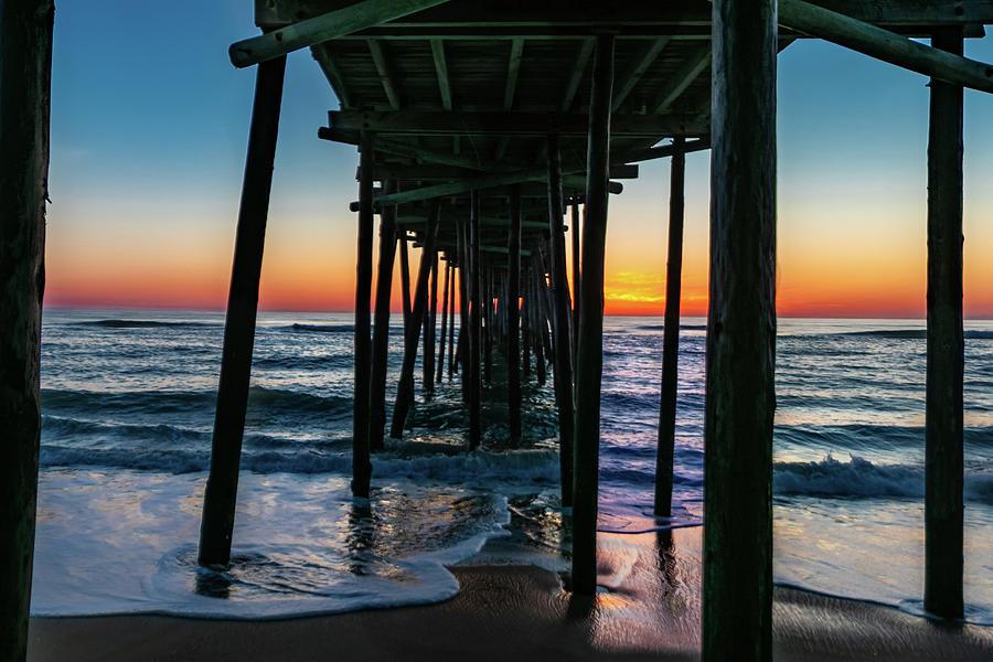 Sunset Nags Head Pier by Norma Brandsberg