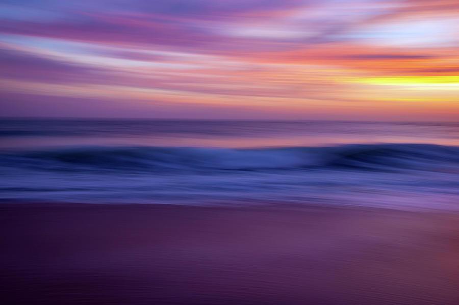 Sunset Ocean Abstract by R Scott Duncan