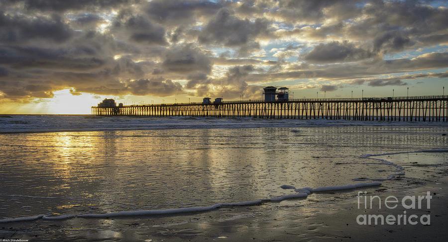 Sunset Oceanside  by Mitch Shindelbower