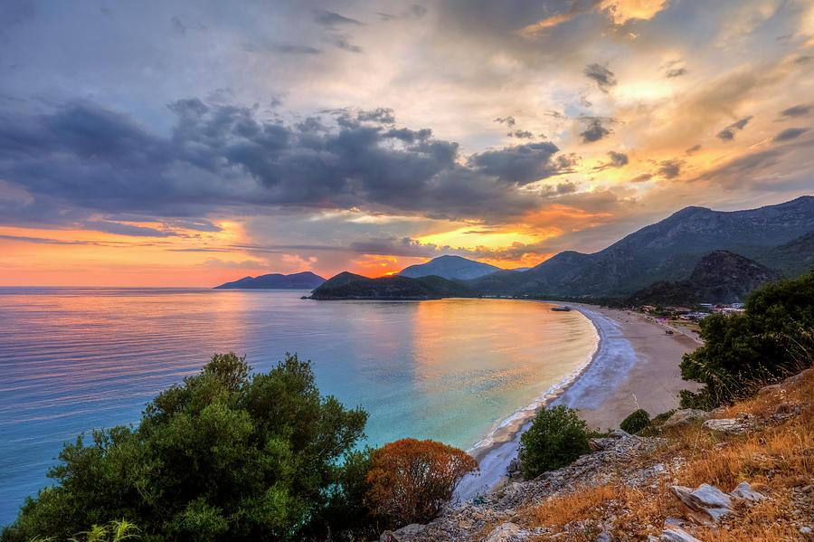 Sunset Of Oludeniz, Fethiye Photograph by Nejdetduzen