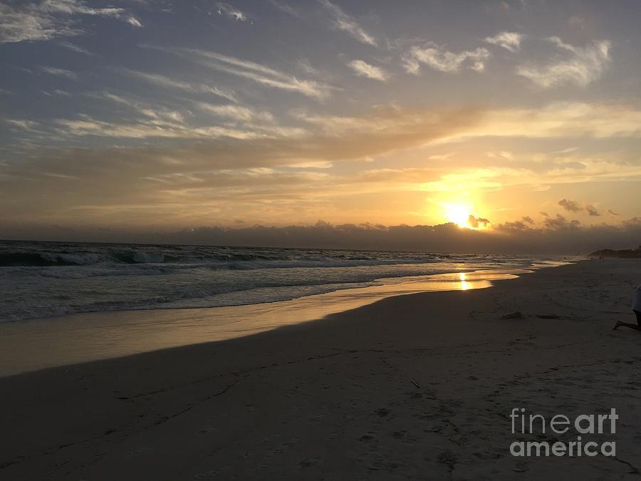 Beach Photograph - Sunset On 30a by Megan Cohen