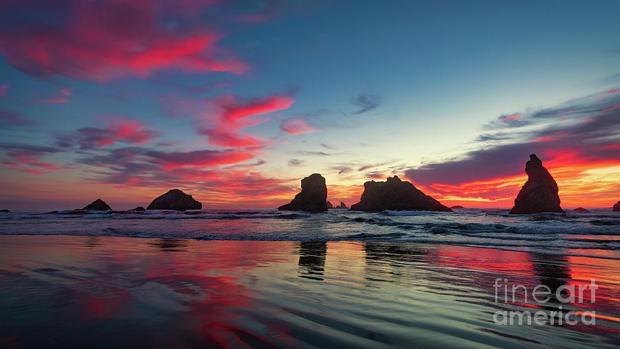 SUNSET ON BANDON BEACH by Doug Sturgess