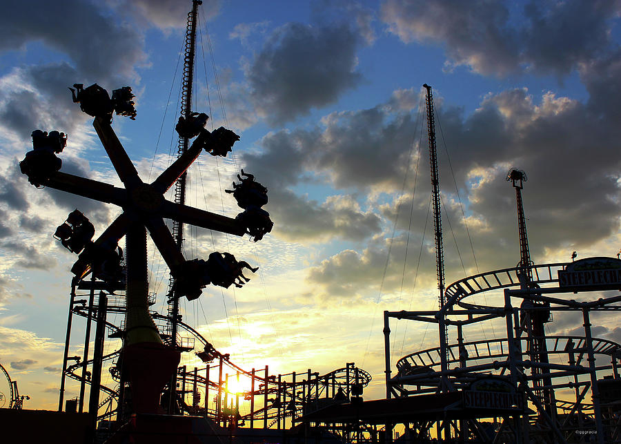 Sunset on Coney Island by Geraldine Gracia