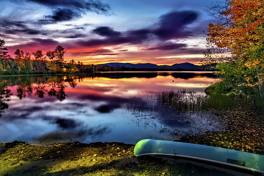 Sunset on Ellis Pond by Norman Peay