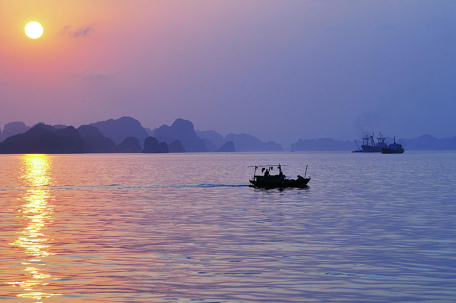 Sunset On Halong Bay Photograph by Photo By Sayid Budhi