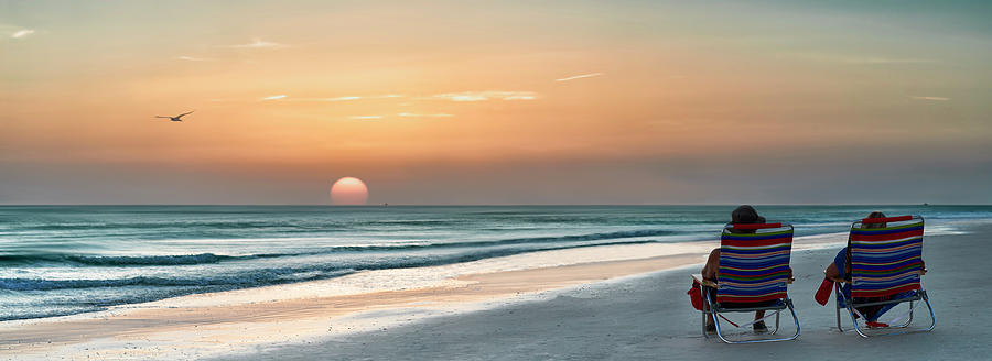 Sunset on Holmes Beach by Adrian Brockwell