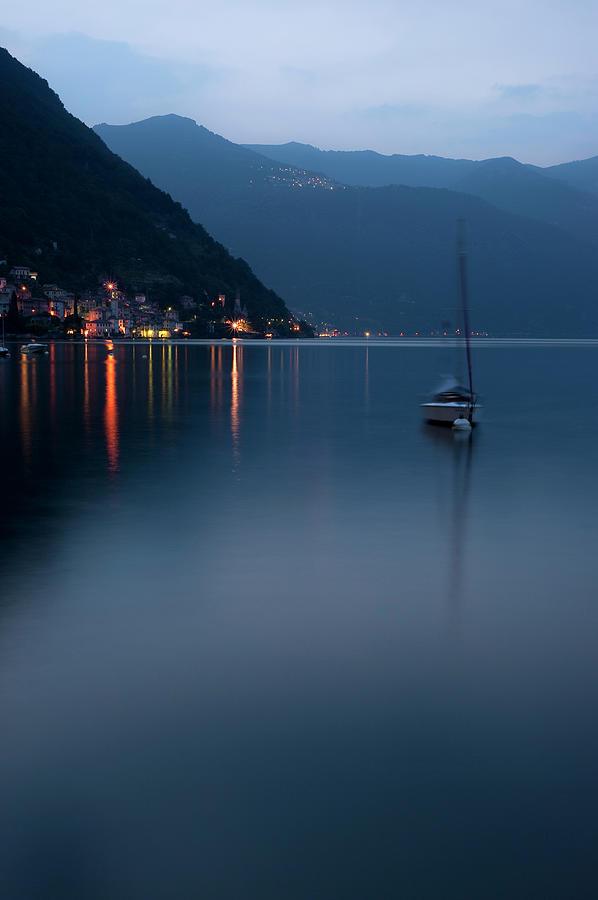 Sunset On Lake Como Photograph by Cirano83