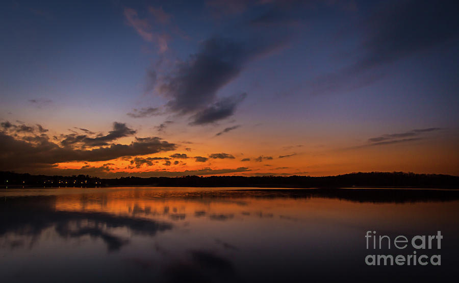 Sunset on Lake Lanier by Bernd Laeschke