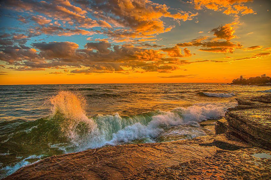 Sunset on Lake Ontario by Fred J Lord