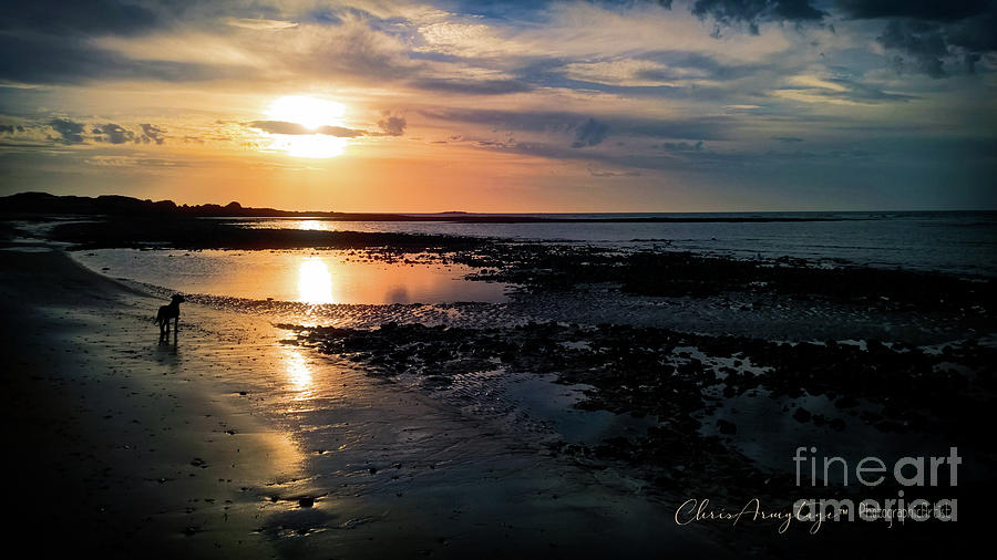 Sunset on Morelands Beach by Chris Armytage